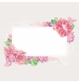 Romantic Card Template with Floral Border vector image