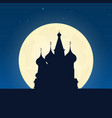 russia silhouette of attraction travel banner vector image