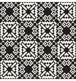 Seamless Black And White Simple Cross vector image