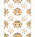 Seamless pattern with lotus flowers hand drawn vector image