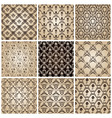 seamless vintage backgrounds set brown baroque wal vector image