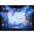 Versus neon logo vector image