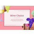 wine choice promo poster on vector image