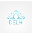 World famous Lotus Temple Greatest Landmarks of vector image