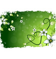 Grungy Flower Background vector image vector image