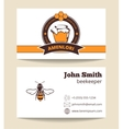 Beekeeper business card template vector image