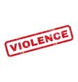 Violence Rubber Stamp vector image