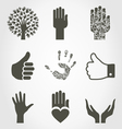 Set of hands4 vector image