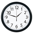 Clock face isolated vector image vector image