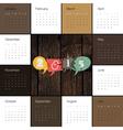 Retro styled calendar 2015 vector image