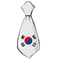 necktie in national colours of South Korea vector image vector image