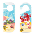 Set Of Summer Sale Tag vector image