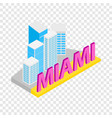 city of miami isometric icon vector image