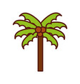 cute beach palm cartoon vector image