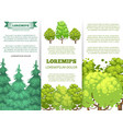 eco banner template - forest banners with colorful vector image