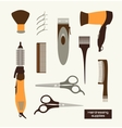 Hairdressing supplies vector image
