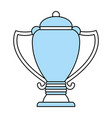 isolated trophy design vector image