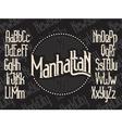 Manhattan font set vector image