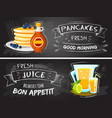 premium quality restaurant breakfasts vintage vector image