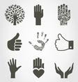 Set of hands4 vector image