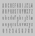 shadow alphabet 3D font design letters and vector image