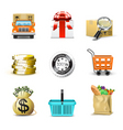 shopping icons | bella series vector image