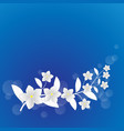 white flower background vector image