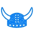 Horned Helmet Grainy Texture Icon vector image
