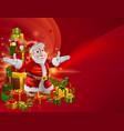 red cartoon santa background vector image