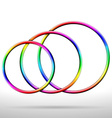 Abstract shiny rainbow colored rings vector image