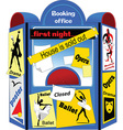 Booking office cartoon vector image vector image