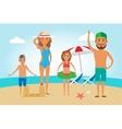 Family Beach Vacation vector image