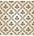 Seamless vintage wallpaper background floral beige vector image