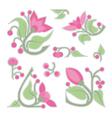 flower vignettes vector image