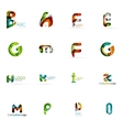 Set of colorful abstract letter corporate logos vector image vector image