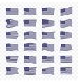 USA Flag set on a transparent background vector image