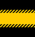 black and yellow warning line striped background vector image