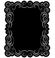 black frame with elegant border vector image