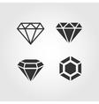 Diamond icons set flat design vector image