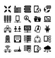 network and communication icons 10 vector image