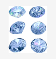Set of six diamonds vector image