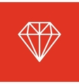 The diamond icon Jewel symbol Flat vector image