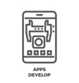 APPS Develop Line Icon vector image