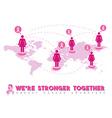 Pink breast cancer awareness world help design vector image vector image