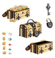 treasure chest with forged decorated vector image