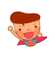 Close-up of boy shouting vector image vector image