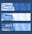 Banners for winter season vector image