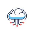 web site cloud hosting - modern line icon vector image