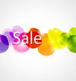 Watercolor Sale Poster vector image vector image