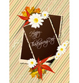 happy thanksgiving day with photo frame vector image